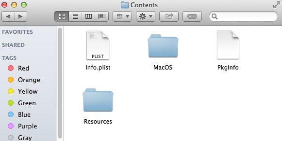 App contents before macdeployqt